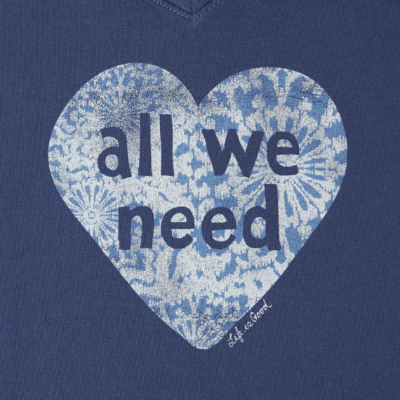 Women's All We Need Is Love Crusher Vee