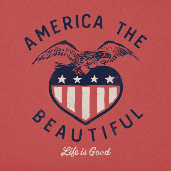 Women's America The Beautiful Long Sleeve Crusher Vee