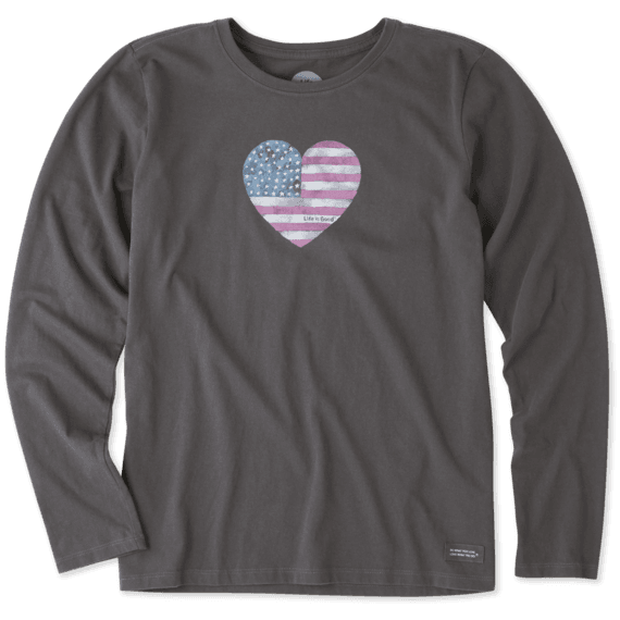 Women's American Love Long Sleeve Crusher Tee