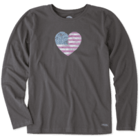 Women's American Love Long Sleeve Crusher Tee