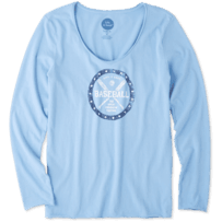 Women's American Pastime Long Sleeve Smooth Tee