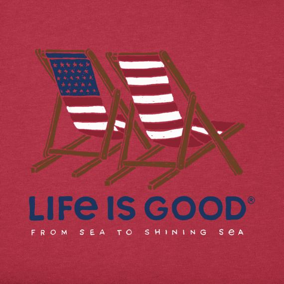 Enjoyable Womens Americana Beach Chairs Crusher Vee Life Is Good Machost Co Dining Chair Design Ideas Machostcouk