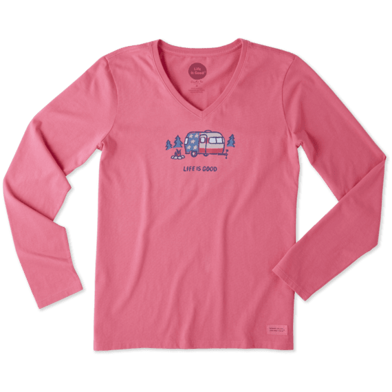 Women's Americana Camp Long Sleeve Crusher Vee