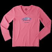 Women's Americana Camp Long Sleeve Crusher Vee