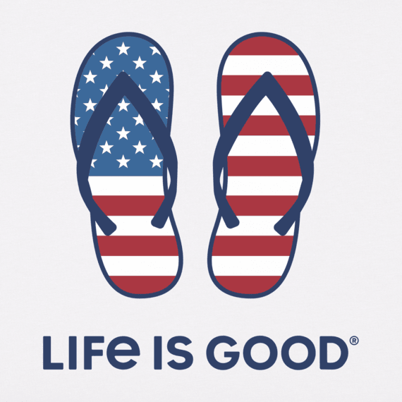 Women's Americana Flip Flops Crusher Vee