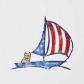 Women's Americana Sailboat Crusher Scoop Tank