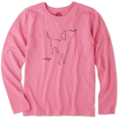 Women's Amigo Long Sleeve Crusher Tee