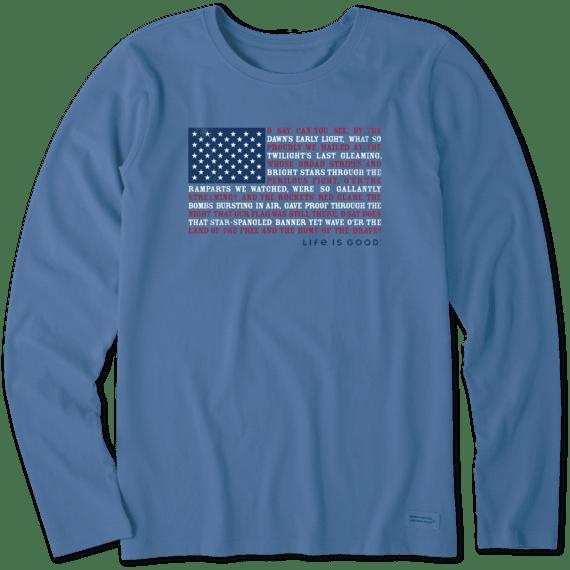 Women's Anthem Flag Long Sleeve Crusher Tee