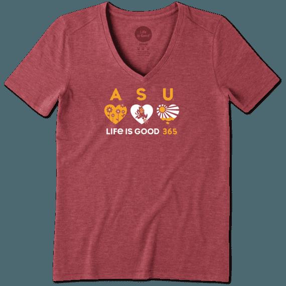 Women's Arizona State 365 Hearts Cool Vee