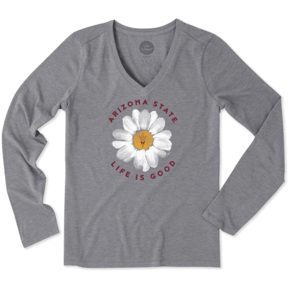 Women's Arizona State Daisy Long Sleeve Cool Vee