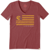 Women's Arizona State Flag Cool Vee