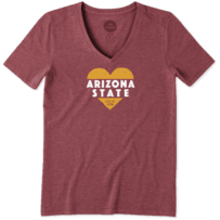 Women's Arizona State Heart Knockout Cool Vee