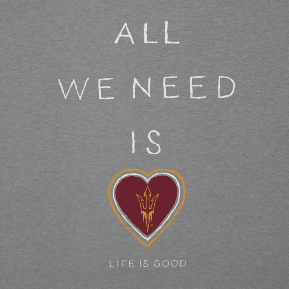 Women's Arizona State University Sun Devils All We Need Heart Cool Vee