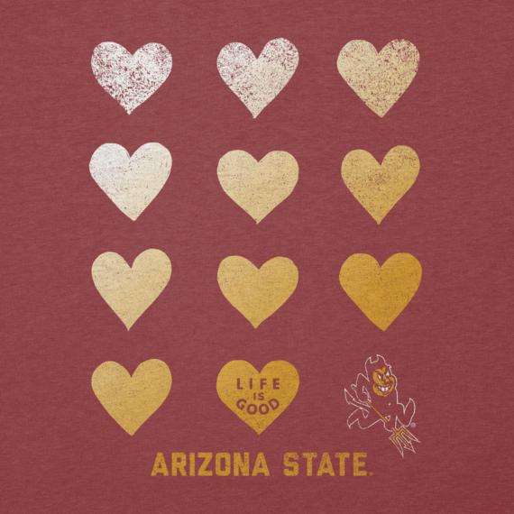 Women's Arizona State University Sun Devils Heart Stack Cool Vee