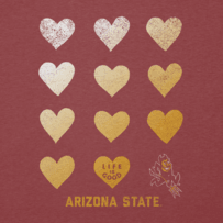 Women's Arizona State University Sun Devils Heart Stack Cool Vee