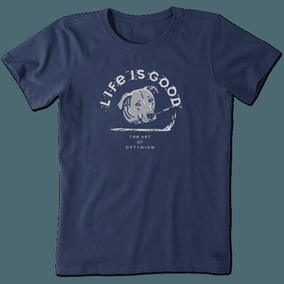 Women's Art of Optimism Dog Crusher Tee
