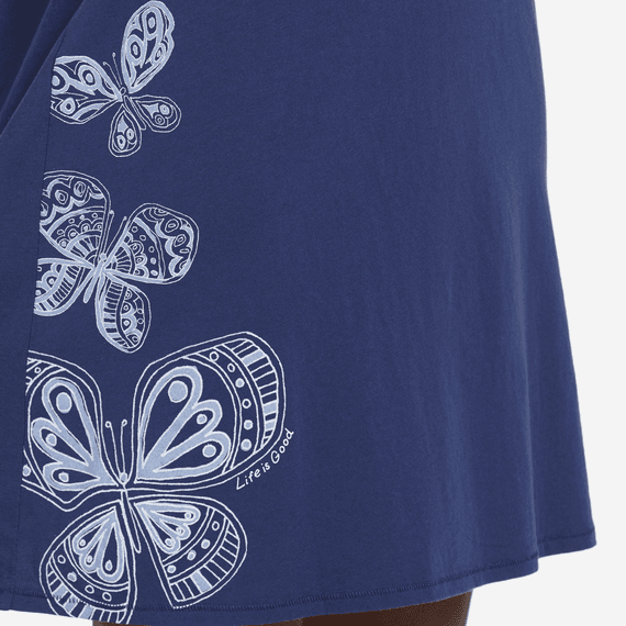 Women's Artsy Butterflies Smooth Tee Dress