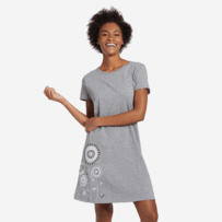 Women's Artsy Flower Grow Smooth Tee Dress