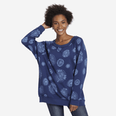 Women's Artsy Flowers Simply True Oversized Sweatshirt