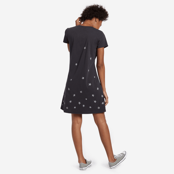 Women's Artsy Stars Smooth Tee Dress