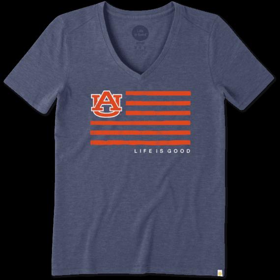 Women's Auburn Flag Cool Vee