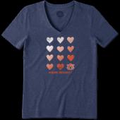 Women's Auburn Tigers Heart Stack Cool Vee