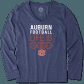 Women's Auburn Tigers Infinity Football Long Sleeve Cool Vee