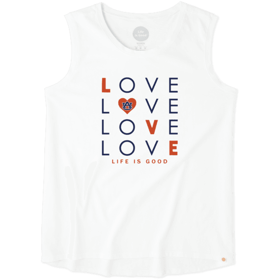 Women's Auburn Tigers Love Stack Sleeveless Tee