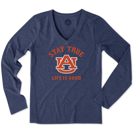 Women's Auburn Tigers Stay True Long Sleeve Cool Vee