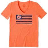 Women's Auburn Tigers Team Flag Cool Vee