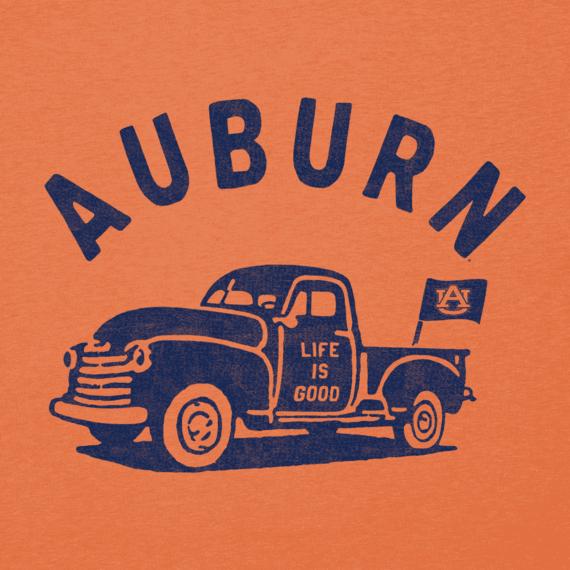 Women's Auburn Vintage Truck Long Sleeve Cool Vee