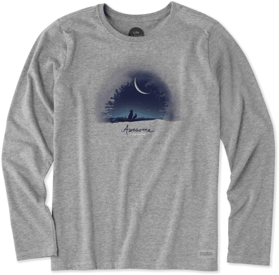 Women s Awesome Night Long Sleeve Crusher Tee ... 3020a6f5d