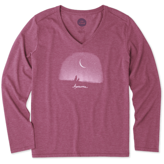 Women's Awesome Universe Long Sleeve Cool Vee