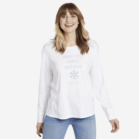Women's Baby Its Cold Outside Long Sleeve Breezy Tee