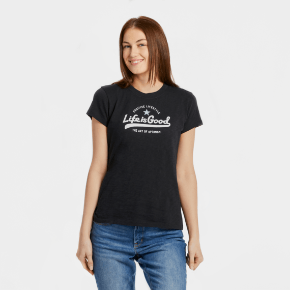 Women's Ballyard Positive Lifestyle Textured Slub Tee