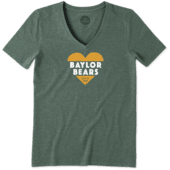 Women's Baylor Bears Heart Knockout Cool Vee
