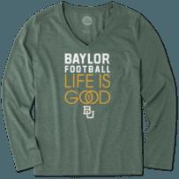 Women's Baylor Bears Infinity Football Long Sleeve Cool Vee