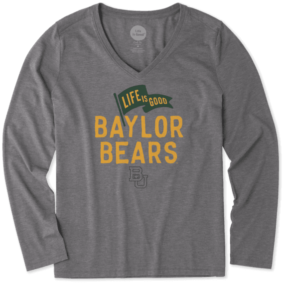 f40c7a869 College Women's Baylor Bears Pennant Long Sleeve Cool Vee | Life is ...