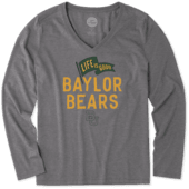 Women's Baylor Bears Pennant Long Sleeve Cool Vee