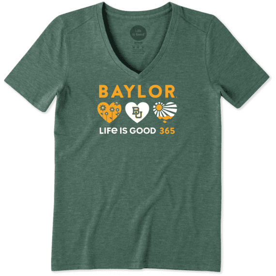 Women's Baylor University 365 Hearts Cool Vee