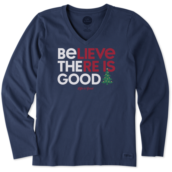 Women's Be the Good Tree Long Sleeve Crusher Vee