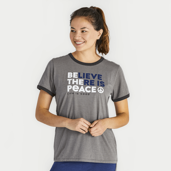 Women's Be the Peace Ringer Cool Tee