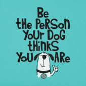 Women's Be the Person Your Dog Thinks You Are Crusher Tee