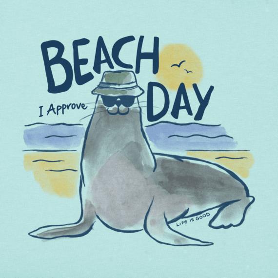 Women's Beach Day Seal Crusher Vee
