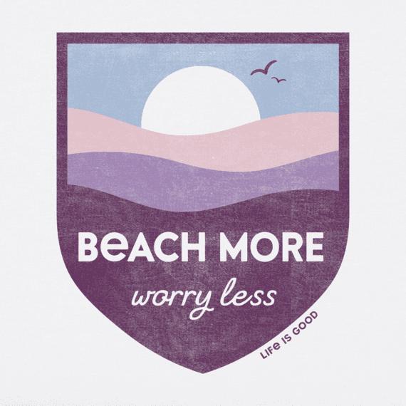 Women's Beach More Worry Less Crusher Vee