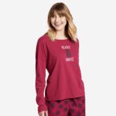 Women's Bearly Awake Snuggle Up Long Sleeve Sleep Tee