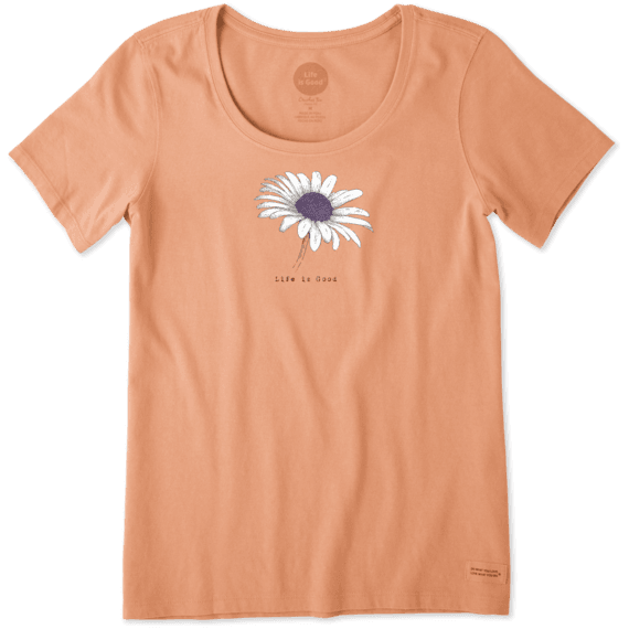 Women's Beautiful Daisy Crusher Scoop Neck Tee