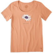 Women's Beautiful Daisy Crusher Scoop Neck Tee