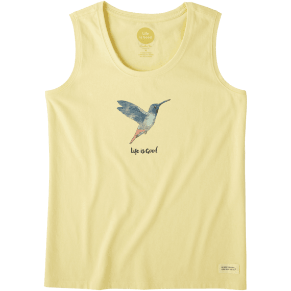 Women's Beautiful Hummingbird Crusher Scoop Tank
