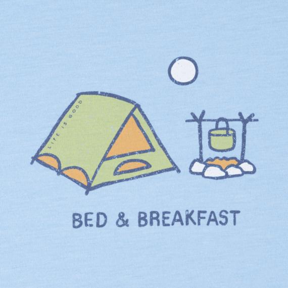 Women's Bed Breakfast Long Sleeve Cool Tee